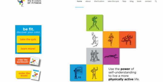 8 colors of fitness website